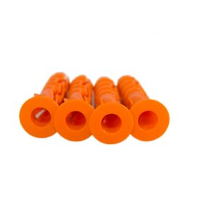 Plastplugg m/krage. 6x30mm