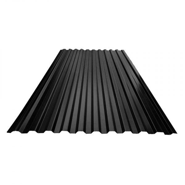 Takplater.20 Profil.0.5mm stål. Lindab - SORT - Takplater