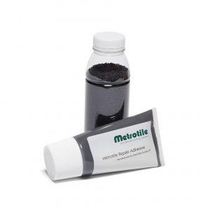 Metrotile quartz.reparasjonssett.granulat og lim - ASS. FARGE - Metrotile